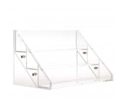 Rangement acrylique transparent 2 tiroirs coinmakeup - Rangement maquillage acrylique transparent ...