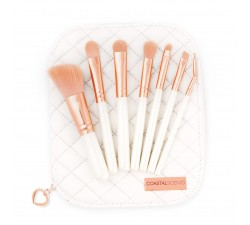 Set 7 Pinceaux - Rose Gold Makeup Brush Set COASTAL SCENTS