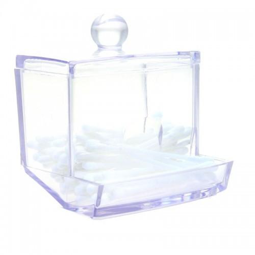 Boîte à Coton Carrée Transparente