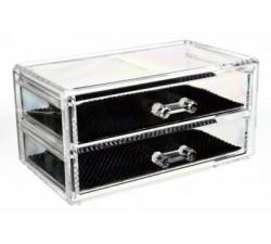 Rangement Acrylique Transparent 2 Tiroirs