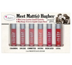 Kit 6 Mini Rouge à Lèvres - Liquide Meet Matte Hughes THE BALM