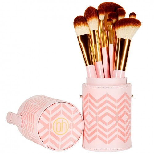 Set Pinceaux Pink A Dot Brush Set BH COSMETICS