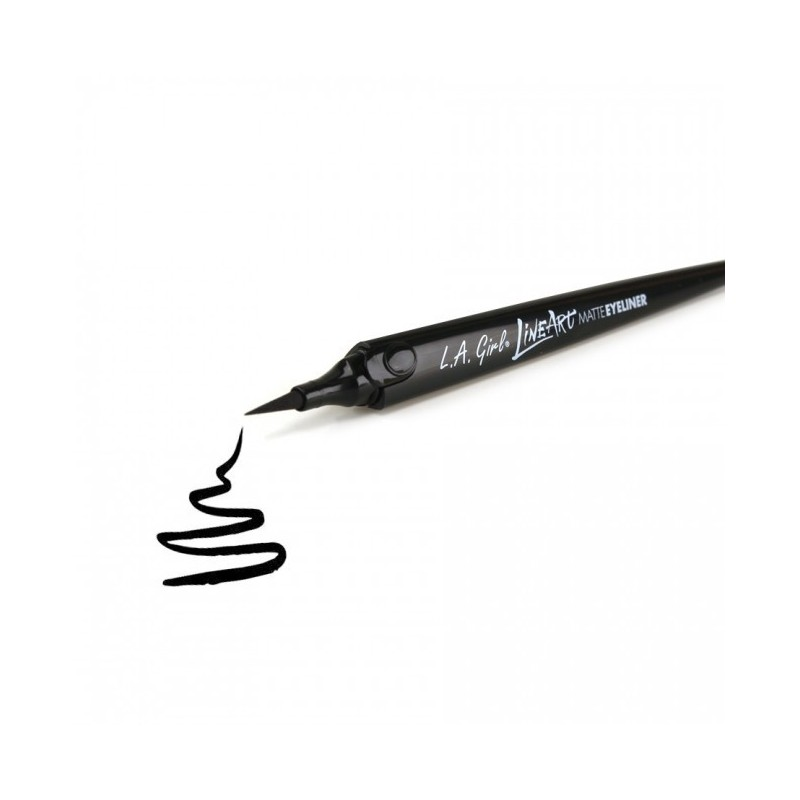 La Girl Line Art Matte Eyeliner Review : Eyeliner line art matte pen la girl coinmakeup