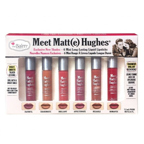 Kit 6 Mini Rouge à Lèvres - Meet Matte Hughes - Edition 2 THE BALM