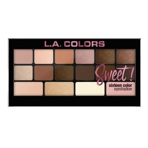 Palette - Sweet ! Sixteen Color Eyeshadow LA COLORS